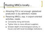 rooting mncs locally