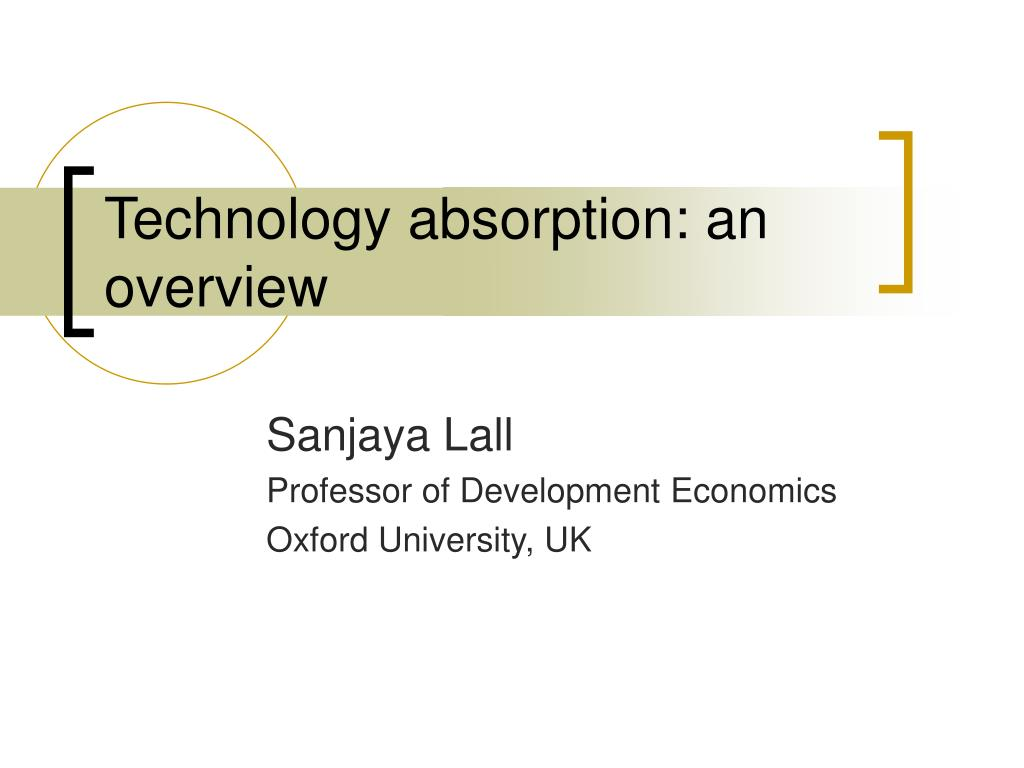 technology absorption an overview l.