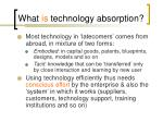 what is technology absorption