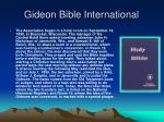 gideon bible international