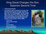 king david charges his son solomon second time