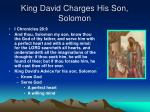 king david charges his son solomon