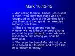 mark 10 42 45