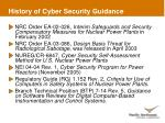 history of cyber security guidance