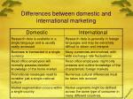differences between domestic and international marketing