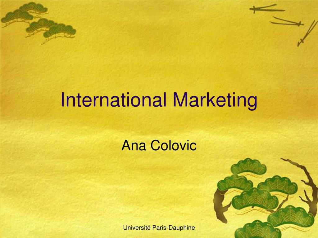international marketing l.