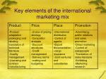 key elements of the international marketing mix