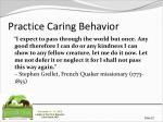 practice caring behavior