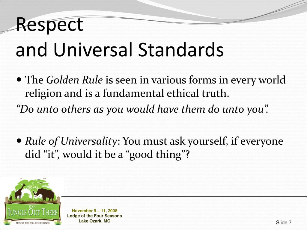 universal ethical truths Do you believe truth is relative i am not concerned with religious views on this matter this is a which implies universal truths in ethics.