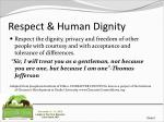respect human dignity