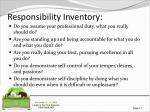 responsibility inventory