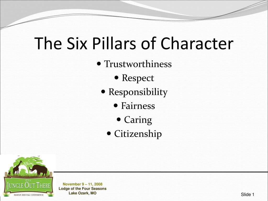 the six pillars of character l.