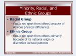 minority racial and ethnic groups