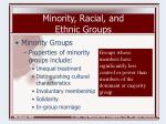 minority racial and ethnic groups4