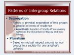 patterns of intergroup relations21