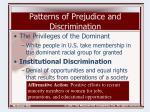 patterns of prejudice and discrimination14