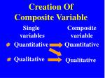 creation of composite variable