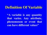 definition of variable