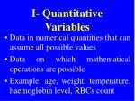i quantitative variables