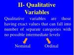 ii qualitative variables