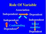 role of variable8