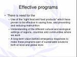 effective programs