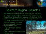 southern region examples7