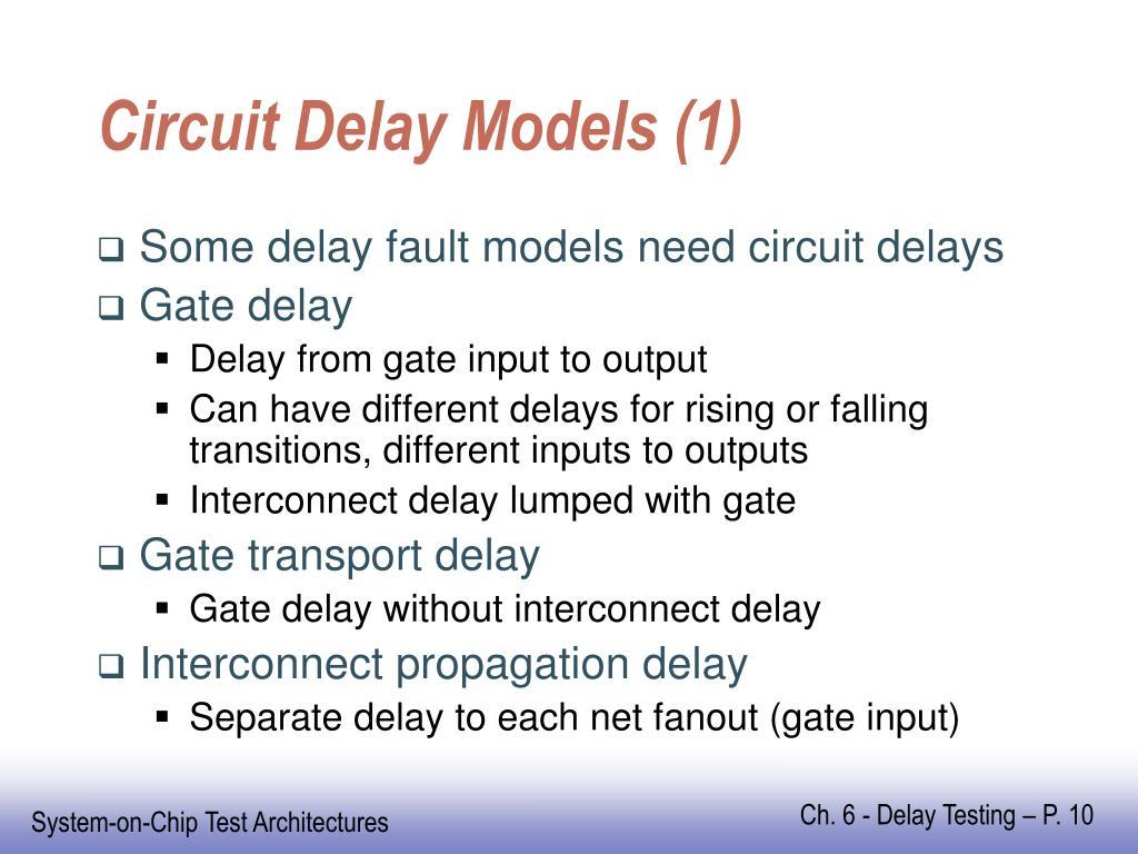 Circuit Delay Models (1)