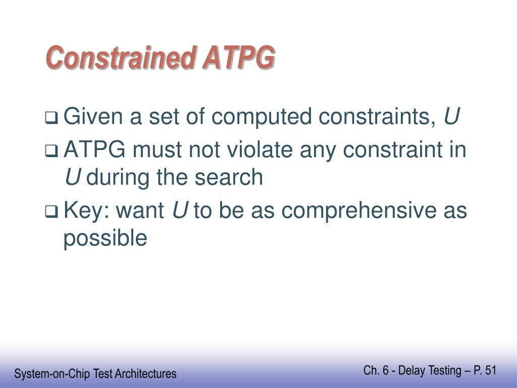Constrained ATPG