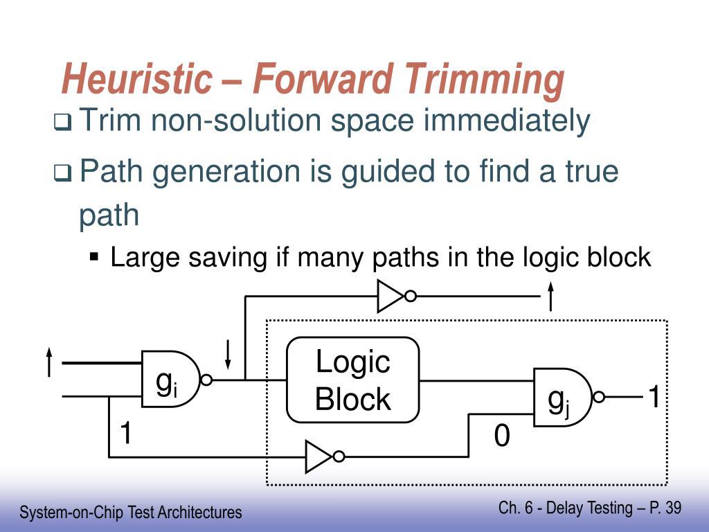 Heuristic – Forward Trimming