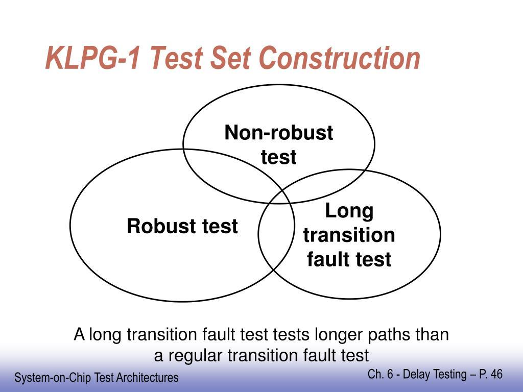 KLPG-1 Test Set Construction