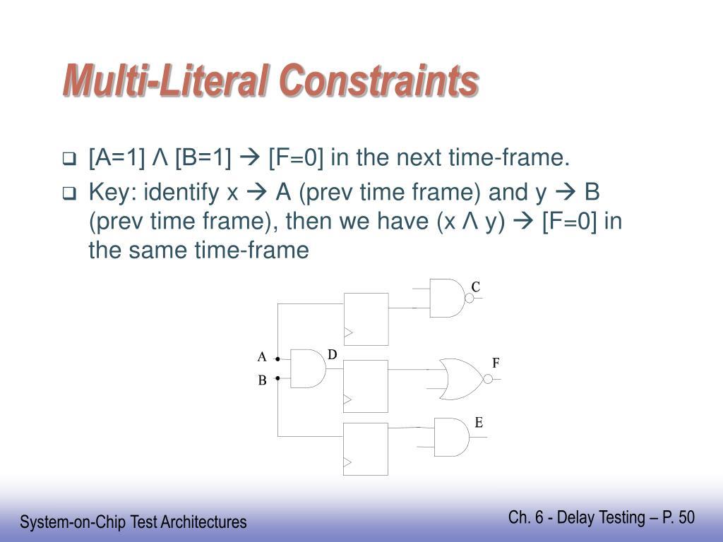Multi-Literal Constraints