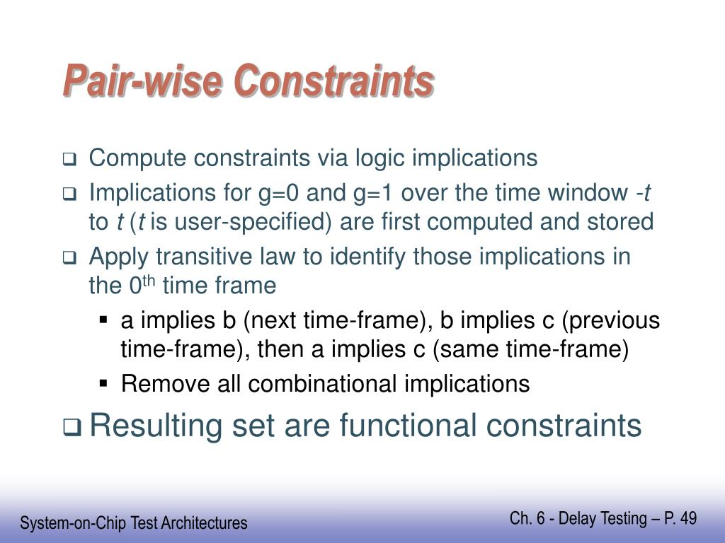 Pair-wise Constraints