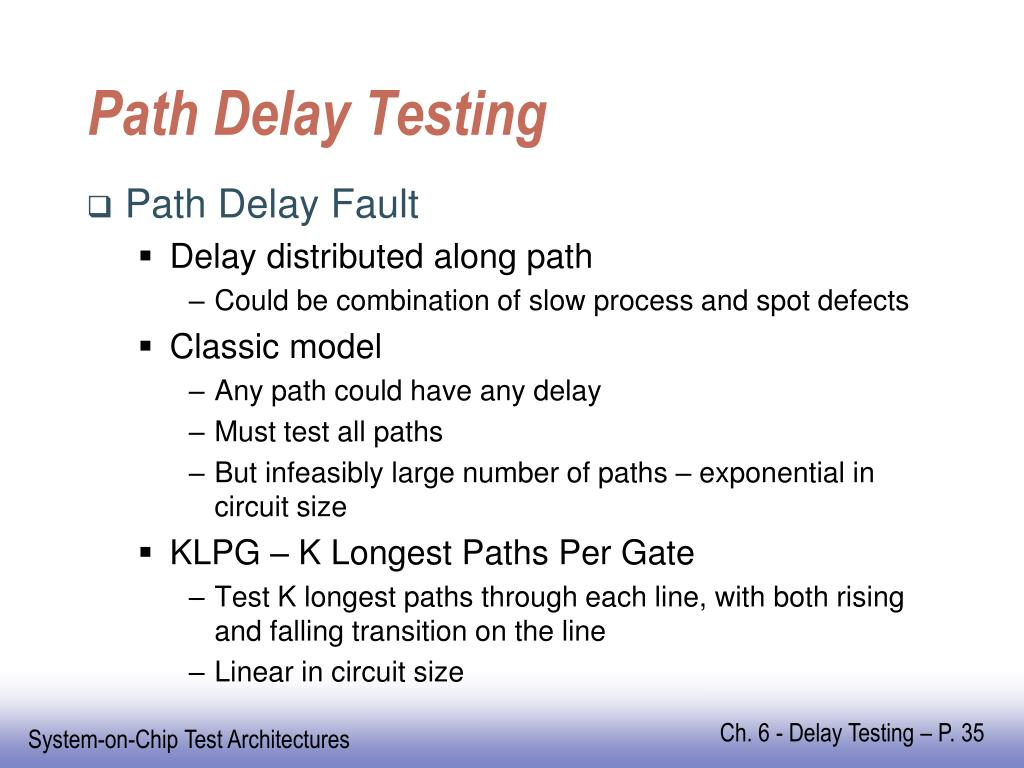 Path Delay Testing