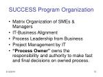 success program organization