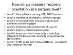 how do we measure recovery orientation at a systems level