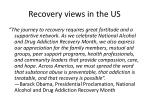 recovery views in the us