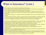what is insurance cont