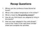 recap questions