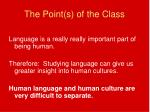 the point s of the class