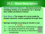 25 2 wave description