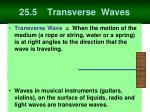 25 5 transverse waves
