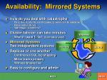 availability mirrored systems