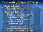 trustworthy database tenets