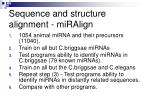 sequence and structure alignment miralign