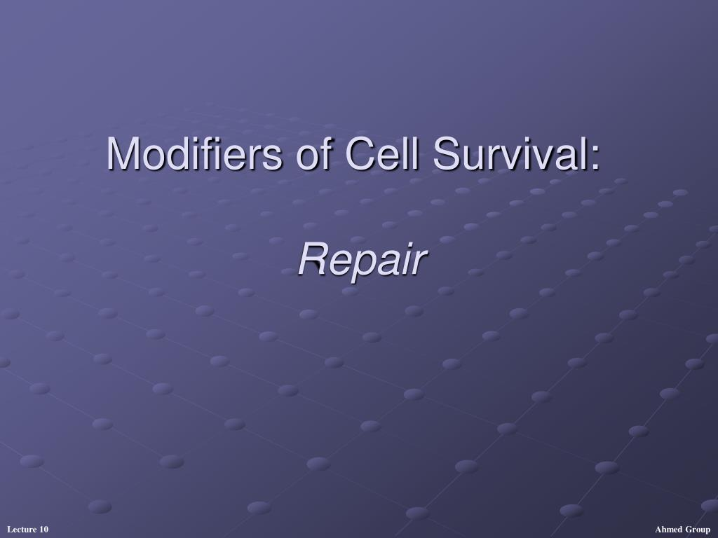 modifiers of cell survival repair l.