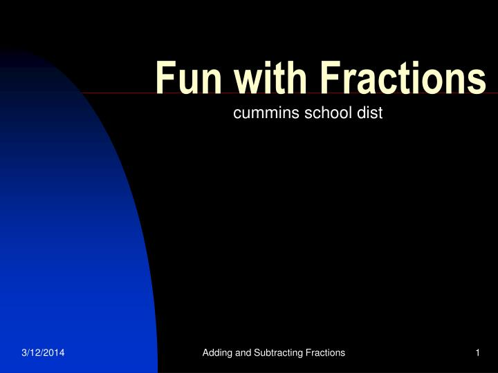 fun with fractions n.
