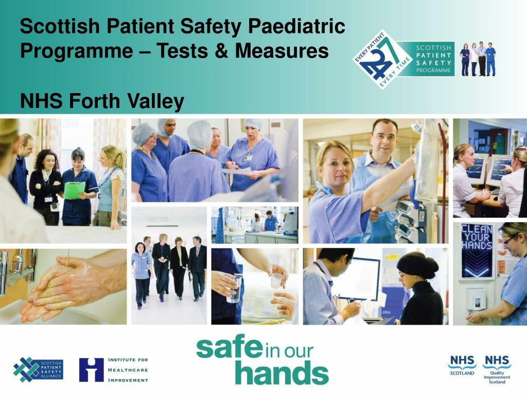 scottish patient safety paediatric programme tests measures l.