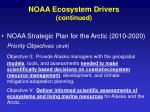 noaa ecosystem drivers continued