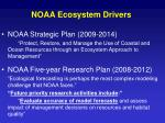 noaa ecosystem drivers